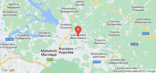 map of Ivanteyevka, Russia
